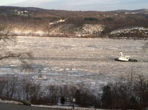 Frozen Hudson River
